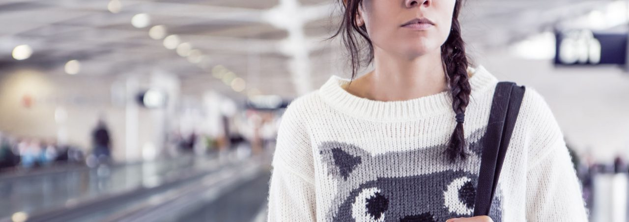 Petra met gebreide trui