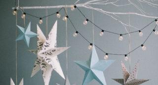 Kerststerren van papier